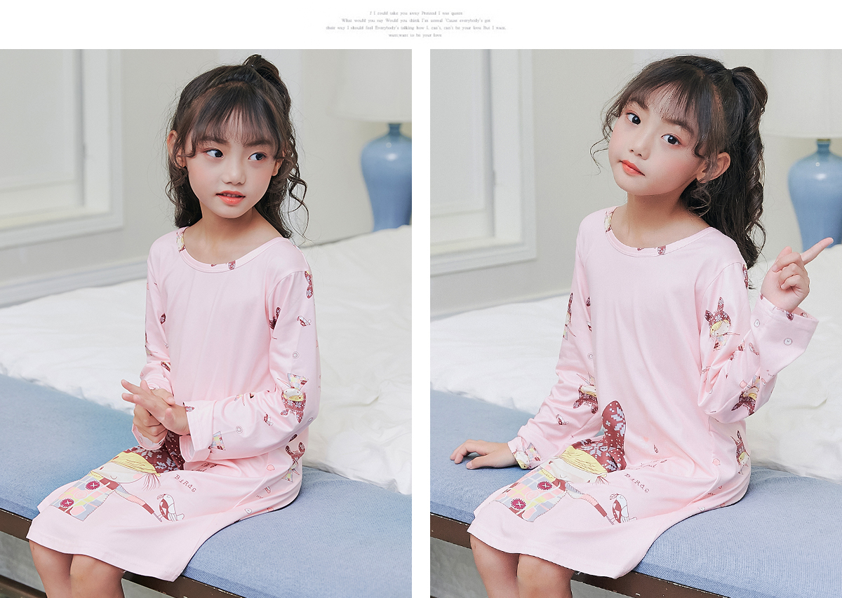 2103812ffc Children Clothing 2018 Autumn Dresses Girls Baby Pajamas Cotton ...