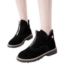 1f55de688 YOUYEDIAN sapatos mulher botas mujer Lazer Low-salto alto Rodada-Toe  Sapatos Anti-