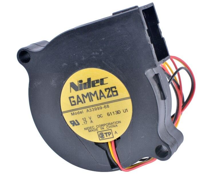 A33999-68 5015 5cm 50mm fan 12V 0.17A 3-wire centrifugal turbine blower fan