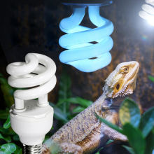 Heat Emitter Ultraviolet Light Bulb E27 5.0 UVB 26W Pet Reptile Light Glow Lamp Daylight Bulb for Tortoise Fish Amphibians