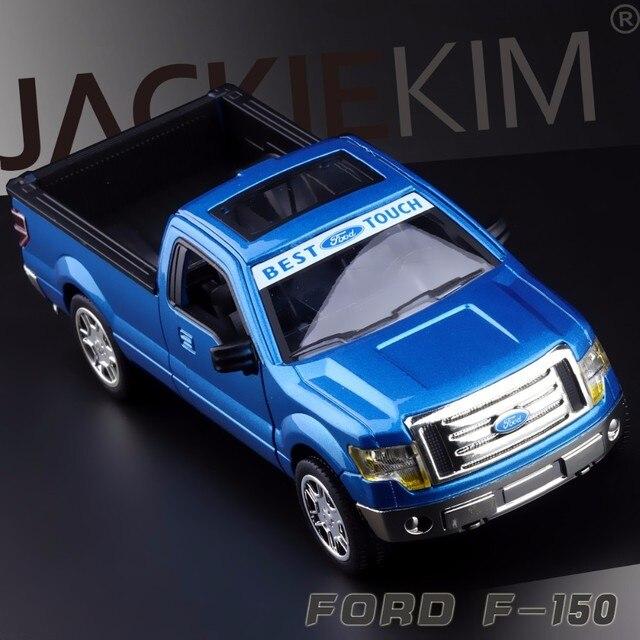 Simulasi Tinggi baru Indah Model Mainan MeiZhi Styling Mobil FORD 2015 Raptor F-150 Pickup Truk 1:32 Paduan Model Mobil Terbaik hadiah