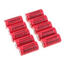 Rechargeable 16340 Battery For LED Flashlight Headlights 3.7