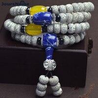 Fine Lunar month Xingyue Natural Bodhi Bracelets 108 Buddha Beads Stone High Density Wood Necklace Men Women Buddhism Jewelry