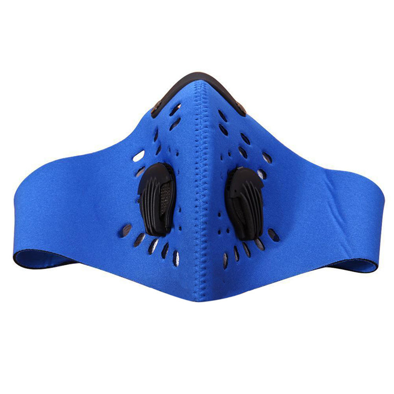 New Men Cycling half Face Mask Riding Mountain Bike Activated Carbon Dust Mask Bicycle Outdoor Sport Mask #3N19#f (2)