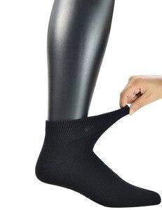 Image 4 - Uomini calzini 5 Paia di Bambù Non vincolante Piatto Alla Caviglia In Maglia Diabetici/calze Vestito con Senza Soluzione di Continuità Punta (grande e grosso disponibili)