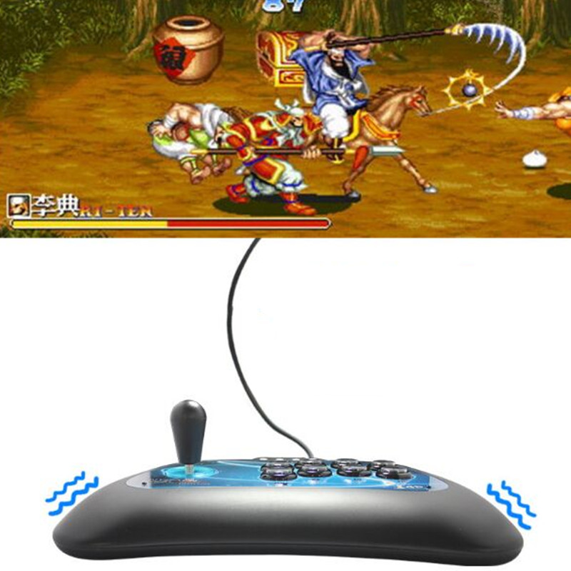 USB Game Joystick for PC PS3/PlayStation 3 PC360 Android wired game controller Light button shock gaming consol for WIN 7 8 10XP