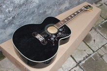 Black J200 Acoustic Guitar Classic OEM Musical instruments Free Shipping Wholesale
