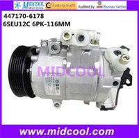 HIGH QUALITY AUTO AC COMPRESSOR 6SEU12C FOR VW 447170 6178