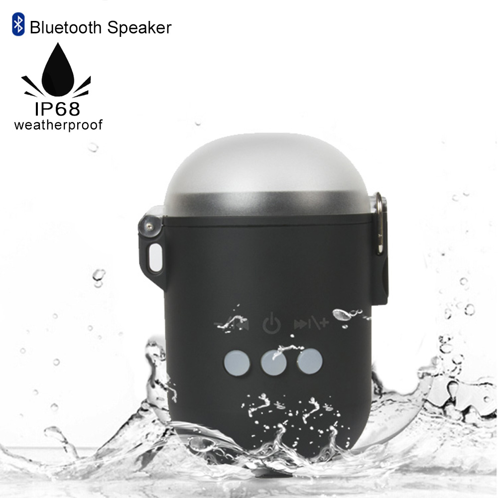 True Wireless Bluetooth Earbuds W/Noise Cancelling Mic IP67 Waterproof Storage & Fast Charger Case W/Built-In Speaker