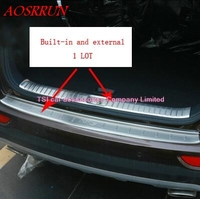 Car trunk for the welcome pedal built in and a full set of external rear plate stainless steel for KIA SPORTAGE 2016 accessories