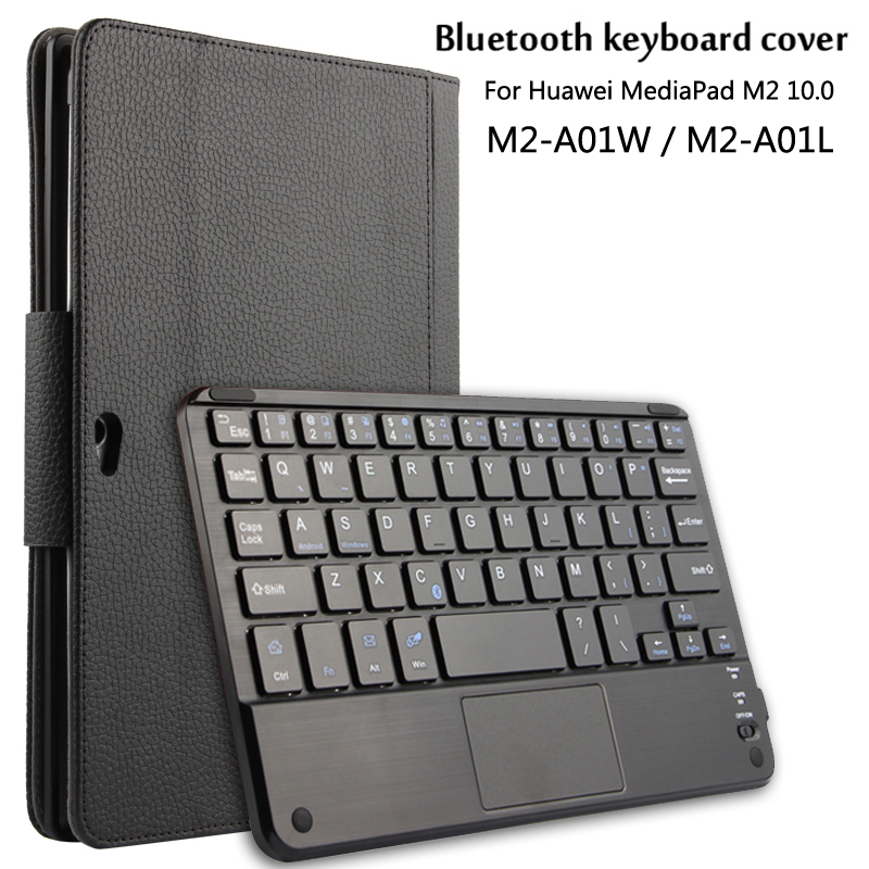 Case For Huawei MediaPad 10 1 M2 A01W M2 A01L Magnetically Detachable ABS Bluetooth Keyboard Portfolio