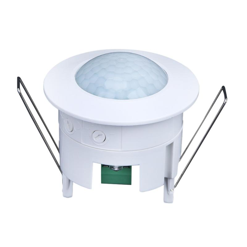 White 110-240V AC Mini Adjustable 360 Degree Ceiling PIR Infrared Body Motion Sensor Detector Lamp Light Switch new arrival 360 degree high sensitivity infrared motion sensor light switch adjustable body infrared sensor dc9 24v 1pc yy