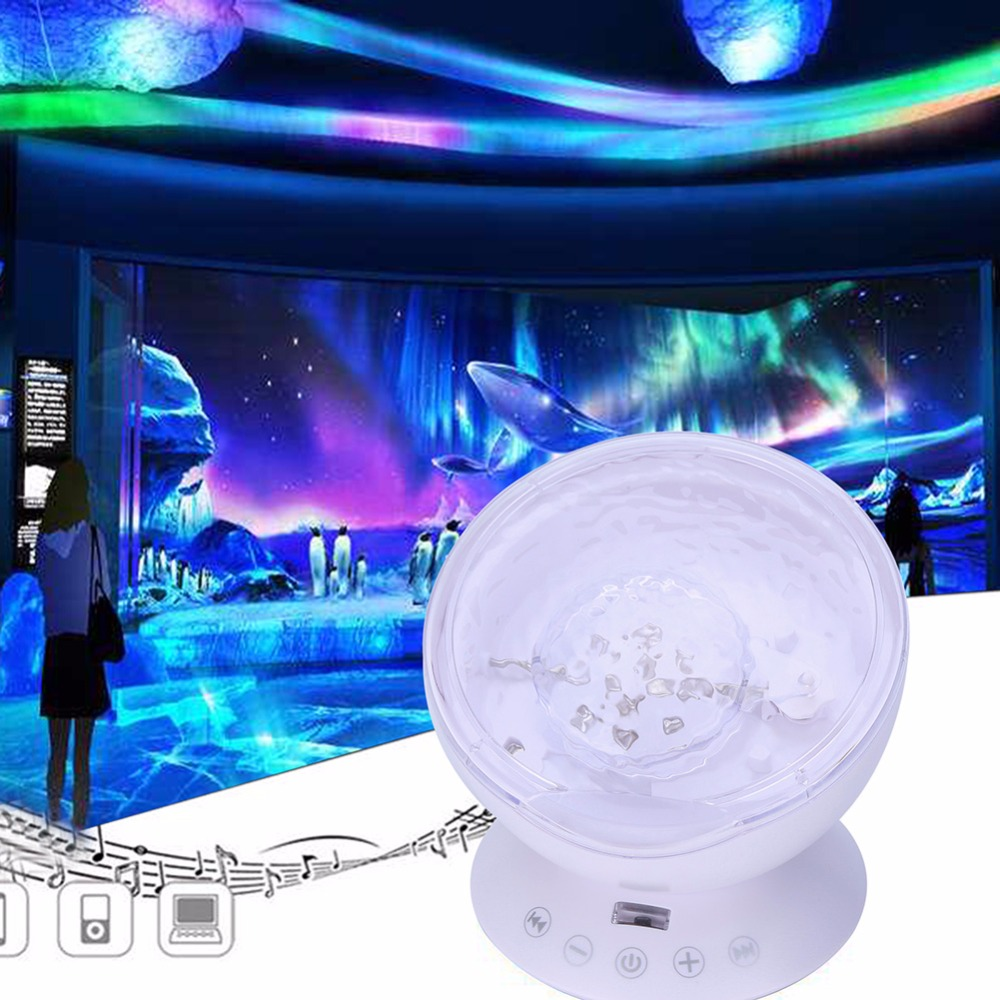 Ozean Welle Projektor Led Nacht Licht Lampe Mit Fernbedienung Für Kinder Geschenk