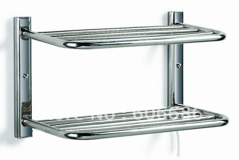 Bathroom heated towel rack stainless steel towel warmer hs 61 electric towel rail make the for Electric heated towel rails for bathrooms