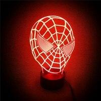 Navidad decoraciones para el hogar 3D LED noche luz para vacaciones y cambio de color hombre araña como Navidad regalo yjm-2820