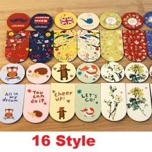 2PCS/pack per lot Vintage & Cartoon series Magnetic Bookmarks Office&School Fashion Christmas Gift Zakka styles(China)