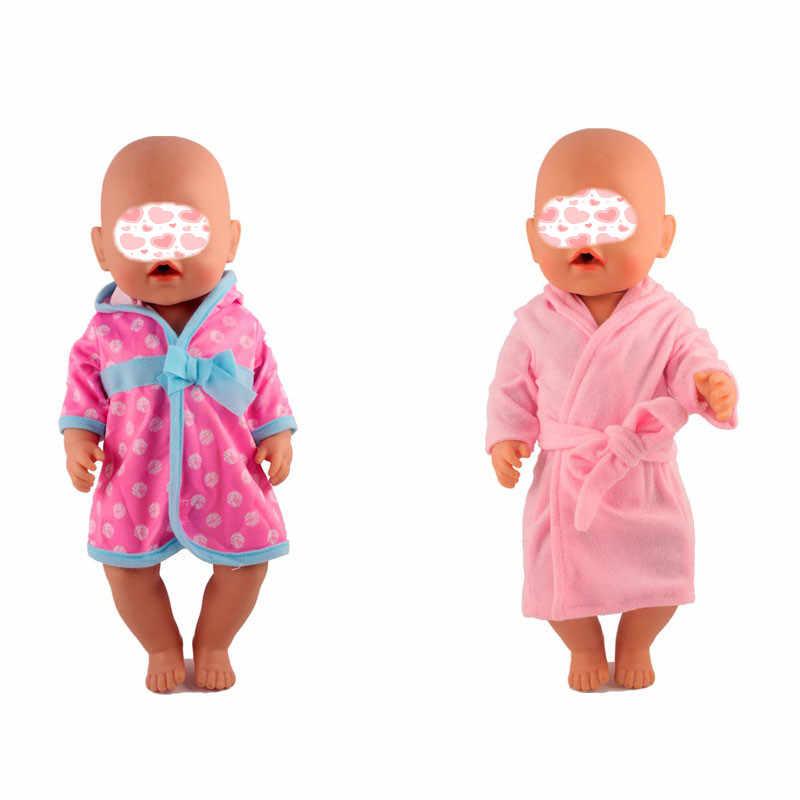 43 センチメートルベビー人形ピンクウールトップ & ショルダーストラップデニムスカートセットフィット 18 ''少女洋服人形キッズベストギフト
