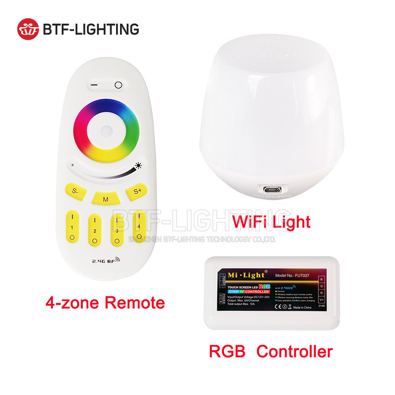 2.4G 4-zone RGB <font><b>LED</b></font> Controller Wireless RF Touch Remote WiFi Mi-Light For <font><b>3825</b></font> 5050 RGB Modules Strip Different Combination