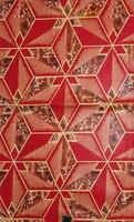Sıcak afrika balmumu baskı kumaş kontrol adım mermer paneli swiss Kırmızı afrika dantel lüks Fırıldak tekstil balmumu pamuklu kumaş hollandais