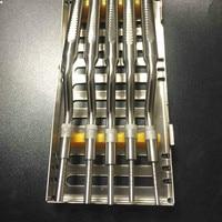 5 шт./компл. зубной имплантат остеотомические инструменты синуслифтинг согнутых чехол кассета (советы вогнутой) Ортодонтические инструмент