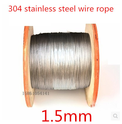 High Quality 50 Meters 1.5mm  7*7  Stainless Steel Wire Rope,