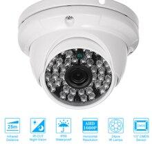 """كاميرا تلفزيونات الدوائر المغلقة 1/3 """"CMOS اللون 1080 P عالية الدقة 24 مصابيح Nightvison داخلي كاميرا بشكل قبة التناظرية الأمن كاميرا"""