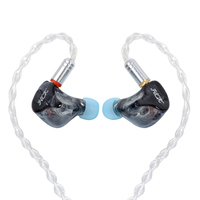 New NICEHCK HK6 Black 6BA Drive Unit In Ear Earphone 6 Balanced Armature Detachable Detach MMCX Cable HIFI Monitoring Earphone