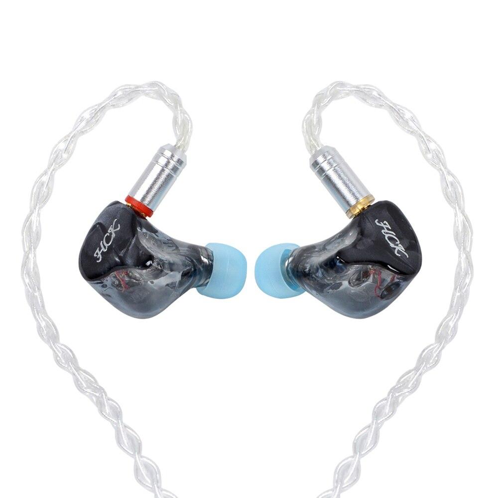 Nouveau NICEHCK HK6 Noir 6BA Unité D'entraînement Dans L'oreille Écouteur 6 Armature Équilibrée Détachable Détacher Câble MMCX HIFI Surveillance Écouteurs