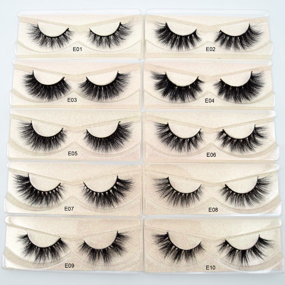 Visofree Eyelashes 3D Mink Lashes Natural Handmade  Volume Soft Lashes Long Eyelash  Extension Real Mink Eyelash For Makeup E01(China)