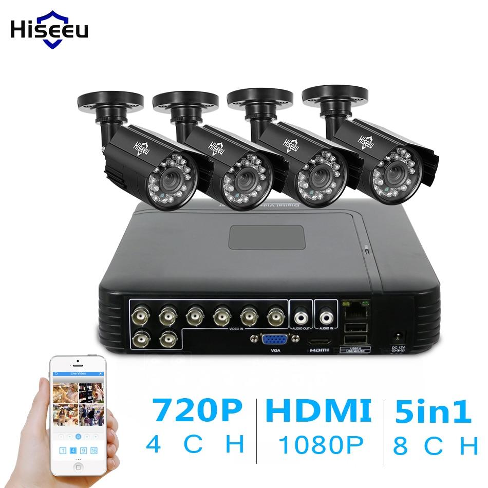 4CH CCTV KIT System 960H DVR 1000 TVL IR Bullet Outdoor CCTV Surveillance Camera Security System