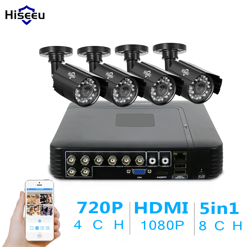 4CH CCTV KIT System 960H DVR 1000 TVL IR Bullet Outdoor CCTV Surveillance Camera Security System