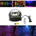 Mini RGB LED MP3 DJ Clube Pub Discoteca Festa de Cristal Luz Mágica e Música Ball Stage Efeito de Luz com USB Disk Controle Remoto LE05