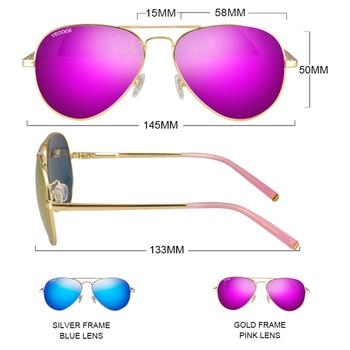 VEGOOS Aviation Mirrored Sunglasses Women Vintage Polarized UV400 Protection Fashion Metal Frame Driving Sun Glasses Pink #3025W 4