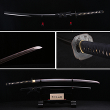 Handmade Full Tang Japanese Katana Red Black Damascus Folded Steel Real Samurai Sword Sharp Edge