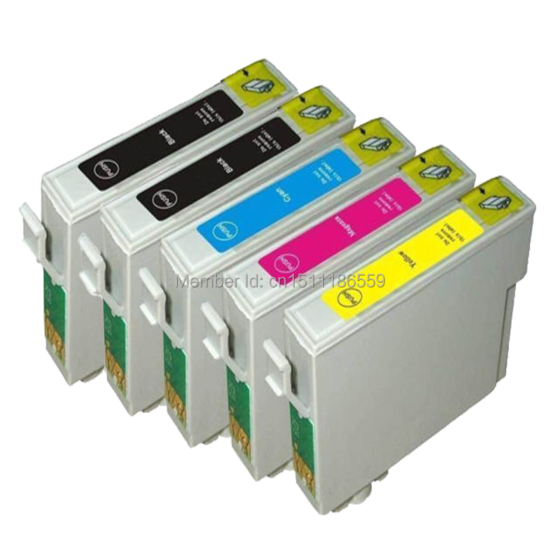 5 COMPATIBLE E-711bk E-712c E-713m E-714y INK CARTRIDGE FOR EPSON STYLUS DX4050 SX515W SX218 SX110 DX8400 INKJET PRINTERS compatible ink cartridge full with pigment inks for epson stylus pro7450 9450 printers 220ml 8pcs