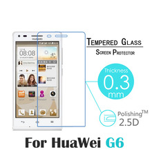 G6 Premium 0 3mm 9H Explosion Proof Toughened Tempered Glass screen For Huawei Ascend G6 LCD