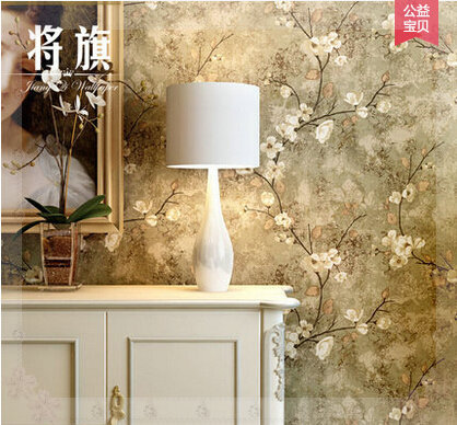Classic European Style Decorative Pattern Wallpaper Vintage Flower Sofa Tv Background Wall Personalized Green Bathroom