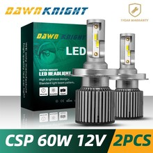 DAWNKNIGHT 2PCS H4 Led bulb 9004/HB1 9007/HB5 9008/H13 H7  D2S(R/C) F4 CSP CHIP Headlight Bulbs Turb Mini Size 6000K