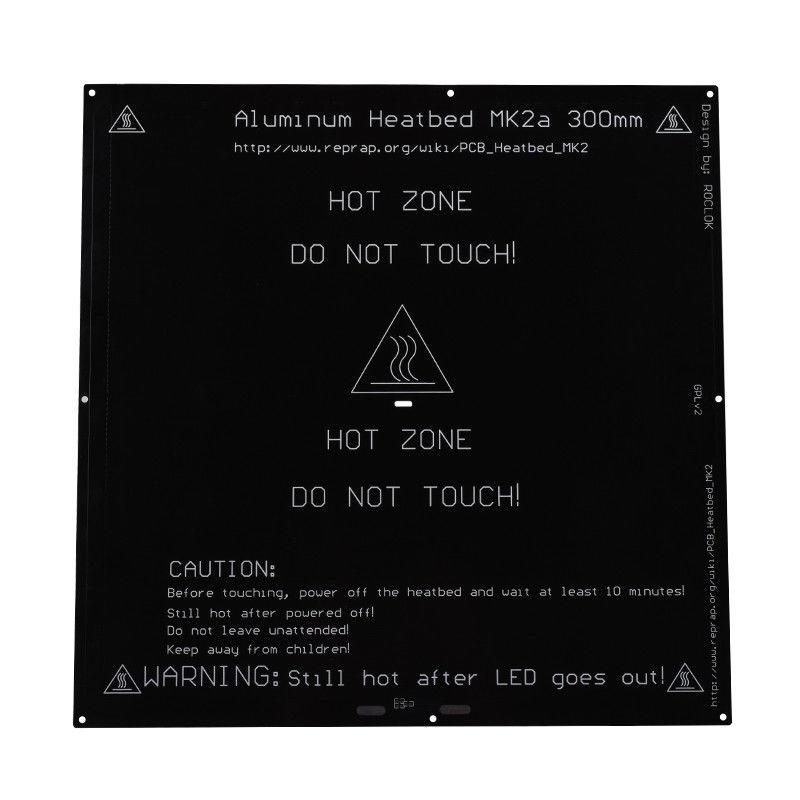 MK2A 300*300*3.0mm Radiateur En Aluminium Plaque Chauffante Pour Mendel Pour 3D Imprimante RepRap