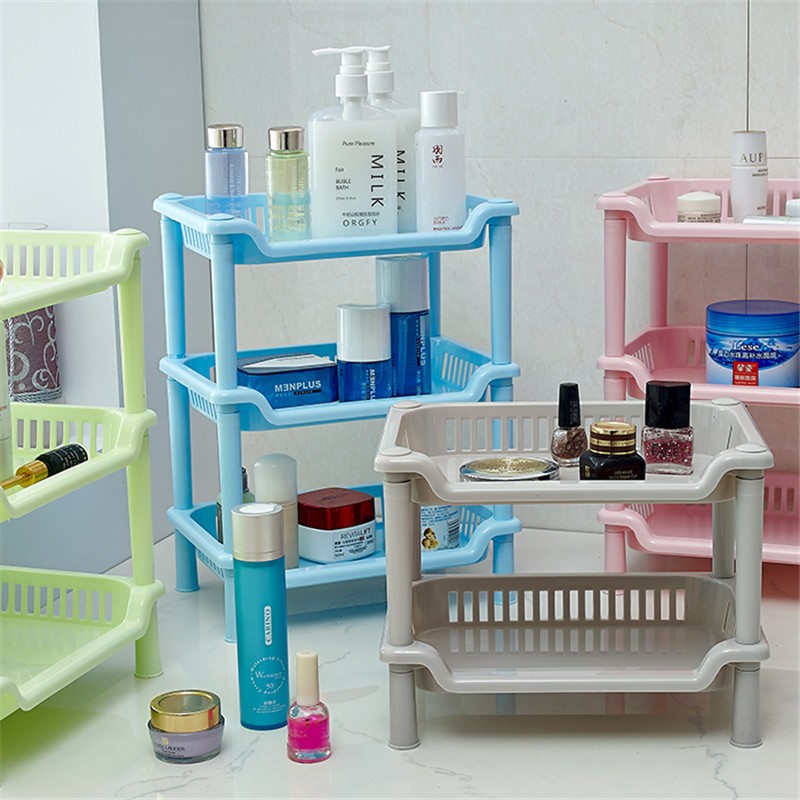 Plastic Bathroom Shelving Shampoo Soap Laundry Storage Shelf Toilet ...