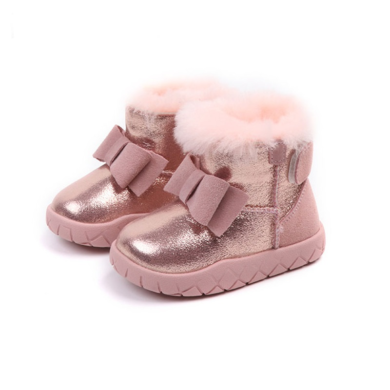 Detail Feedback Questions about Girls Boots 2018 New Bow Children s Rubber  Boots Patent Leather Warm Children s Winter Shoes Toddler Boots 1 2 3 years  on ... 24be86ba971f