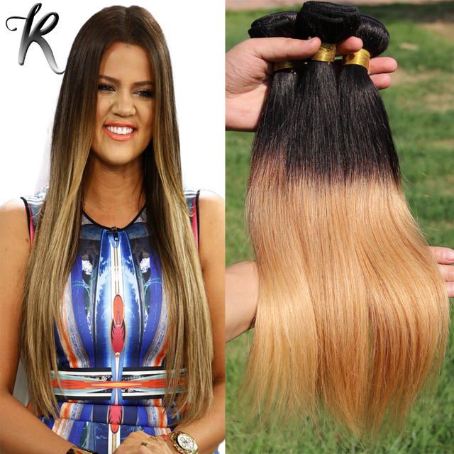 Ombre straight brazilian hair 3pcs two tone hair weave blonde ombre straight brazilian hair 3pcs two tone hair weave blonde ombre hair bundles highlight human hair pmusecretfo Image collections