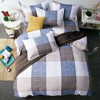 Home Textiles 3pcs King Size Bedding Sets Geometric Plaid Solid B Side 4pcs Duvet Cover Sets Pillow Cases Pillow Covers