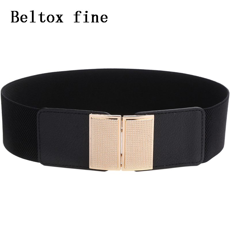 Vintage Wide Hook Elastic Waist   Belt   Waistband Plus Stretchy Cinch   Belt   Big size Cummerband for Women