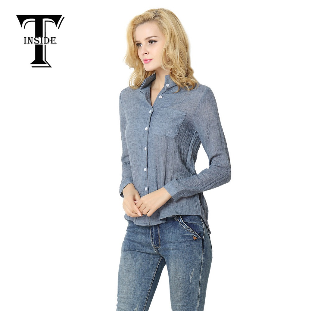 Buy t inside shirt 2016 female new for Long sleeve t shirts with collar
