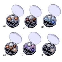 Pudrové metalické oční stíny – 5 odstínů