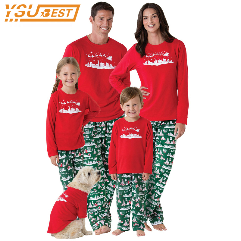 Family matching father son mon baby new year family look for Funny matching family christmas pajamas