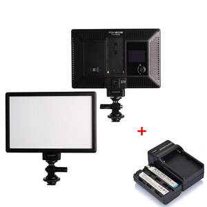 TOAZOE T119S Ultra-thin LED Video Light Photography Fill Light 3300K-5600K CRI95 & Battery + Charger for Canon Nikon Camera DV