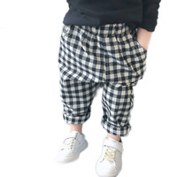 Boy Pant Plaid Solid Color Children Trousers High Quality Cotton Full length Boy Pant Kids Casual Pants roupas infantis menino