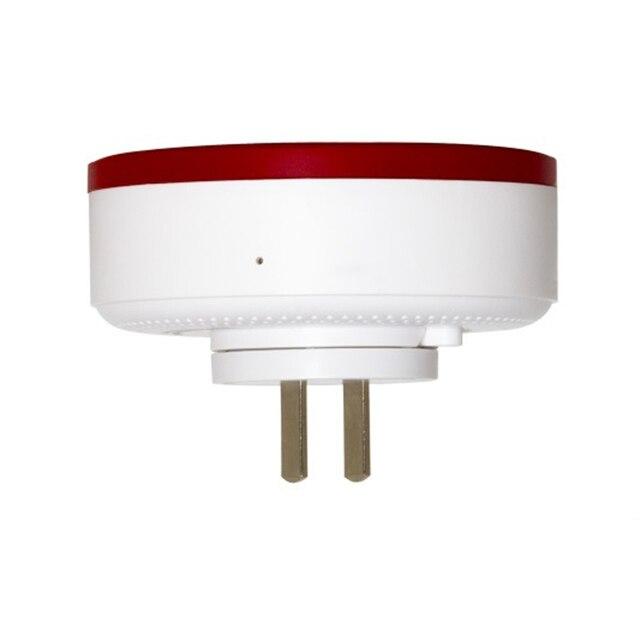HEIMAN Z-Wave Wireless Flashing Siren Horm Alarm System System Red Light Strobe Siren 868.42MHz Wireless Siren